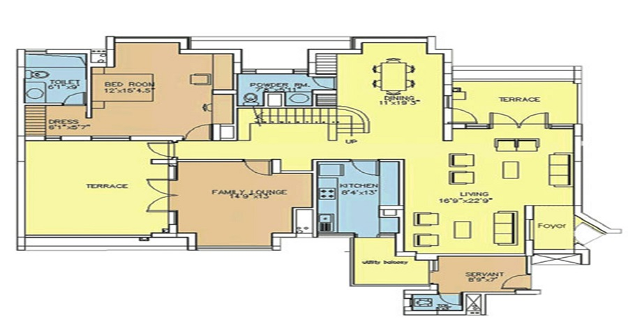 3 BHK Flats (2305 SQ. FT.)