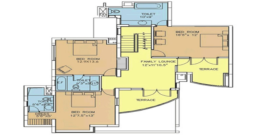 3 BHK Luxury Penthouse (2336 SQ. FT.)