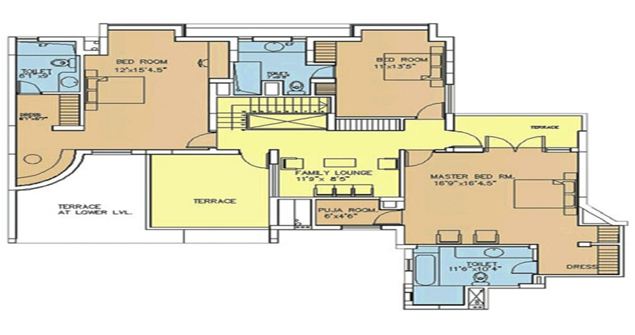 4 BHK Premium Apartments (2567 SQ. FT.)