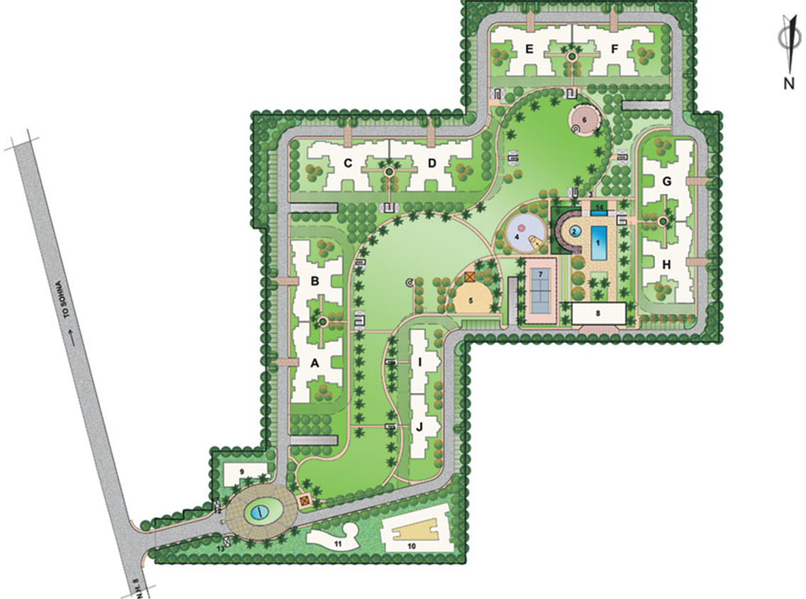 Bestech Park View City 1 Site Plan