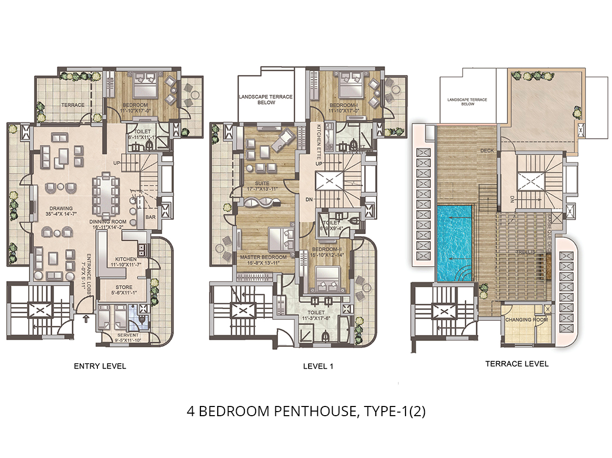 4 BHK super Luxury Penthouse
