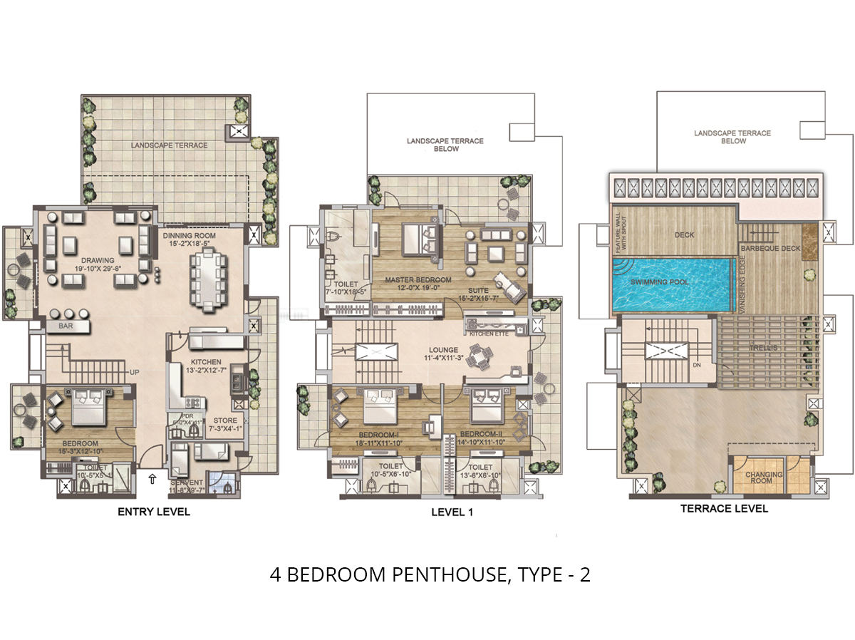 4 BHK Luxury Penthouse in sector 81 Gurgaon